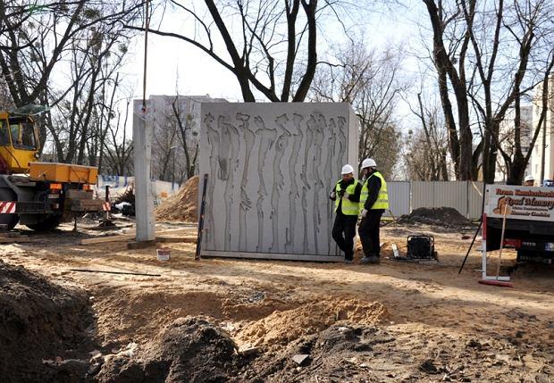 Budowa pomnika Witolda Pileckiego na Żoliborzu