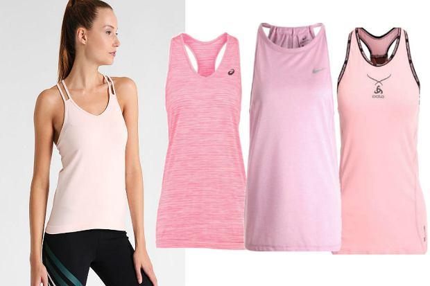 stanik sportowy w różowym kolorze