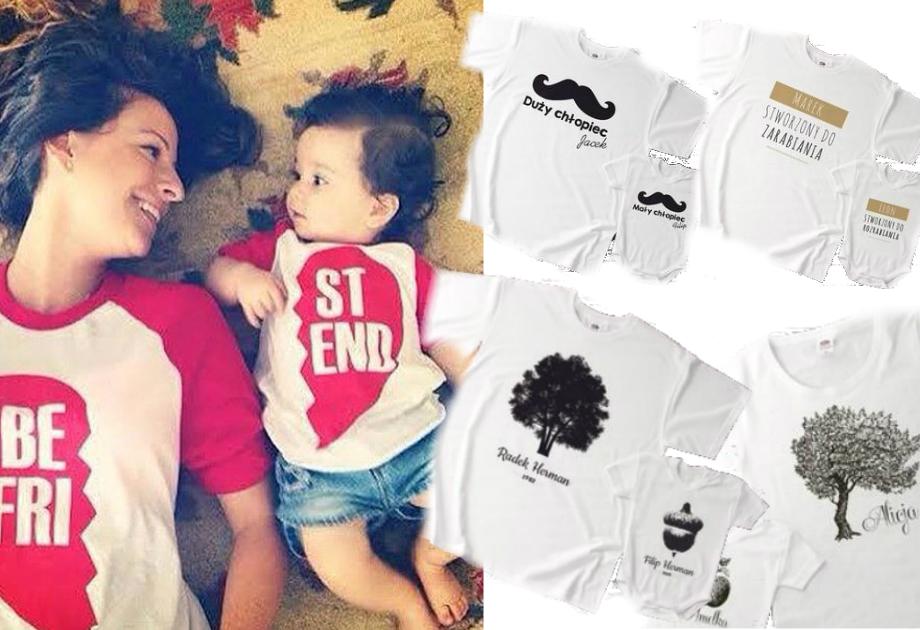 Pomysłowa koszulka dla rodziców i dla dziecka