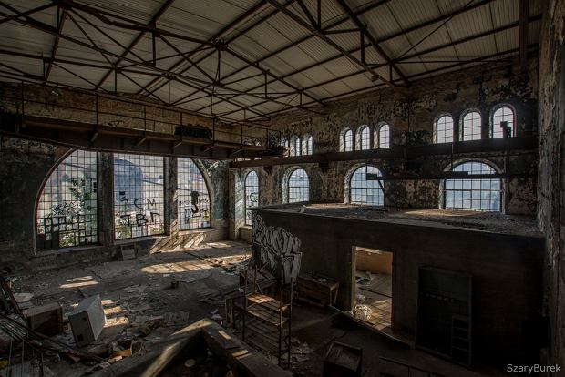 Opuszczona fabryka papieru
