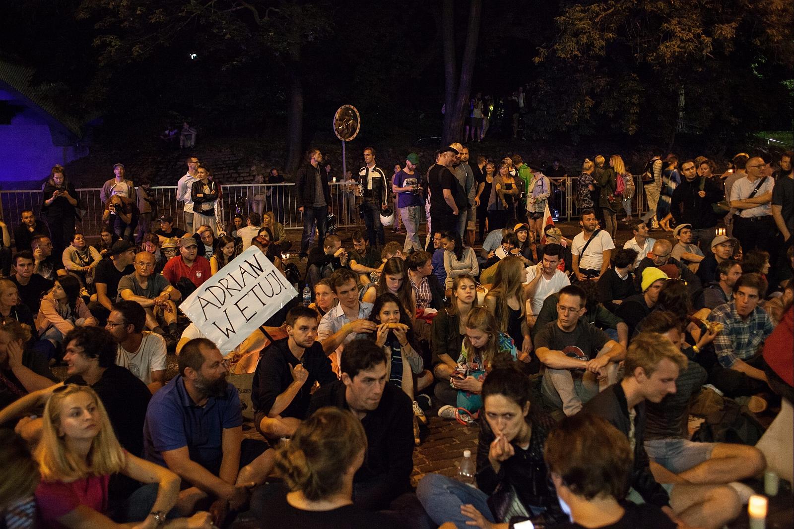 e20.07.2017 Warszawa  . Protest przeciwko zamachowi PiSna sady Fot. Dawid Zuchowicz / Agencja Gazeta