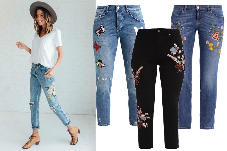 Odmładzające ubrania - jeansy z naszywkami / fot. cladandcloth.com / mat. partnera