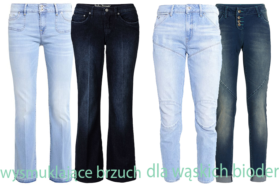 Jeansy dla kobiet o wąskich biodrach i wyszczuplające brzuch