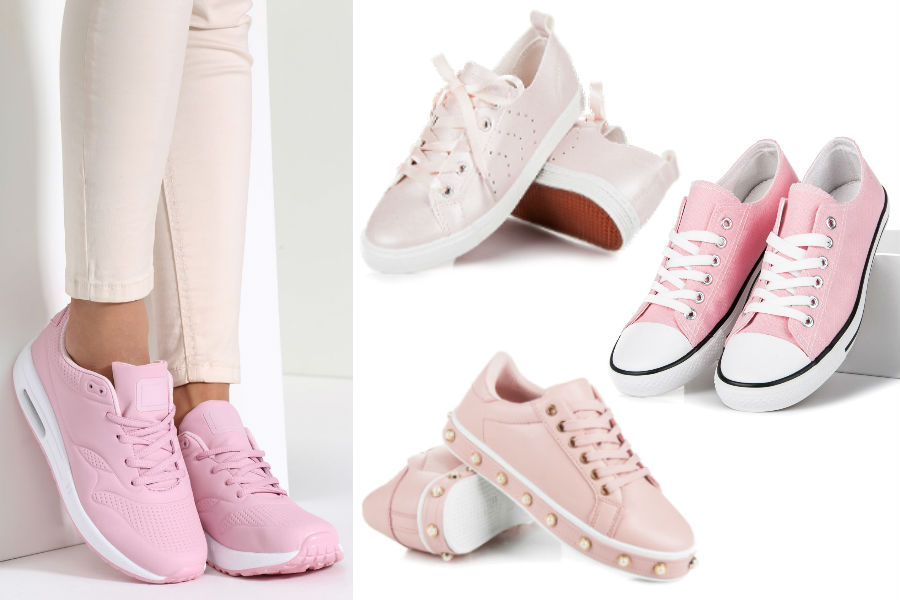 Kolaż / Pastelowe sneakersy / Materiały partnerów