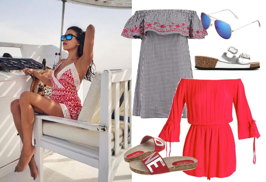 Macademian Girl w czerwonej sukience