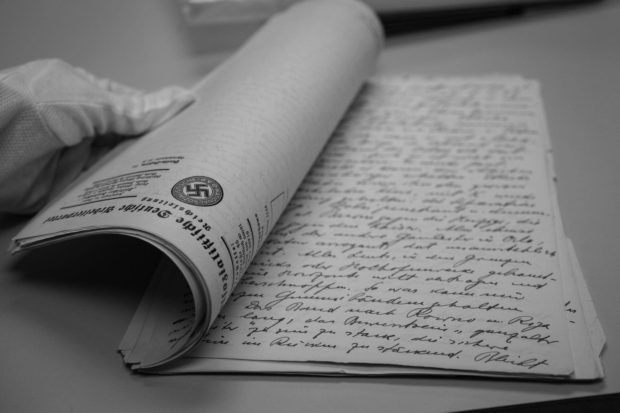 Rękopis dziennika Rosenberga obejmującego okres dziesięciu lat i zajmującego pięćset stron (fot. U.S. Holocaust Memorial Museum; zdjęcie opublikowane za zgodą Miriam Lomaskin)