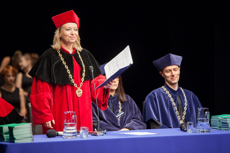 Inauguracja Roku Akademickiego 2016 /17 w krakowskiej PWST (fot. Jakub Dabrowski / Agencja Gazeta)