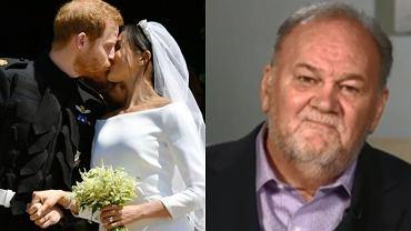 Ojciec Meghan Markle udawał zawał, bo nie chciał iść na ślub córki? Teraz komentuje spekulacje