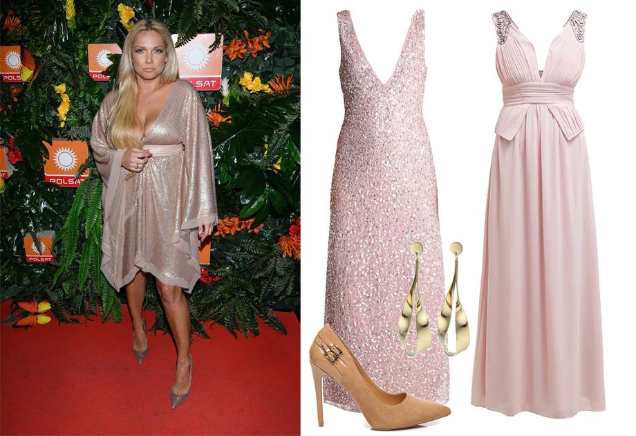 Joanna Liszowska w różowej sukni