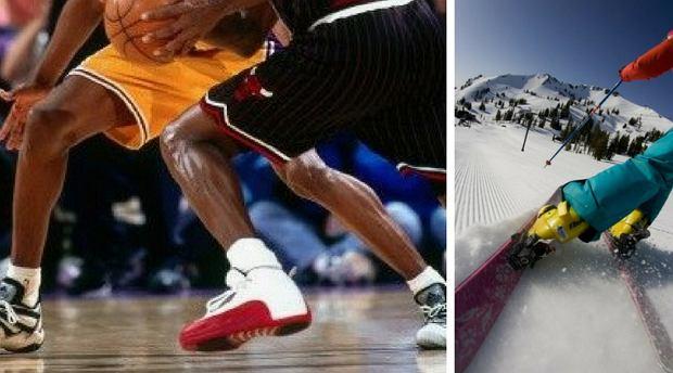 Koszykówka i narciarstwo to jedne z najbardziej ryzykownych z punktu widzenia kolan dyscyplin sportu.