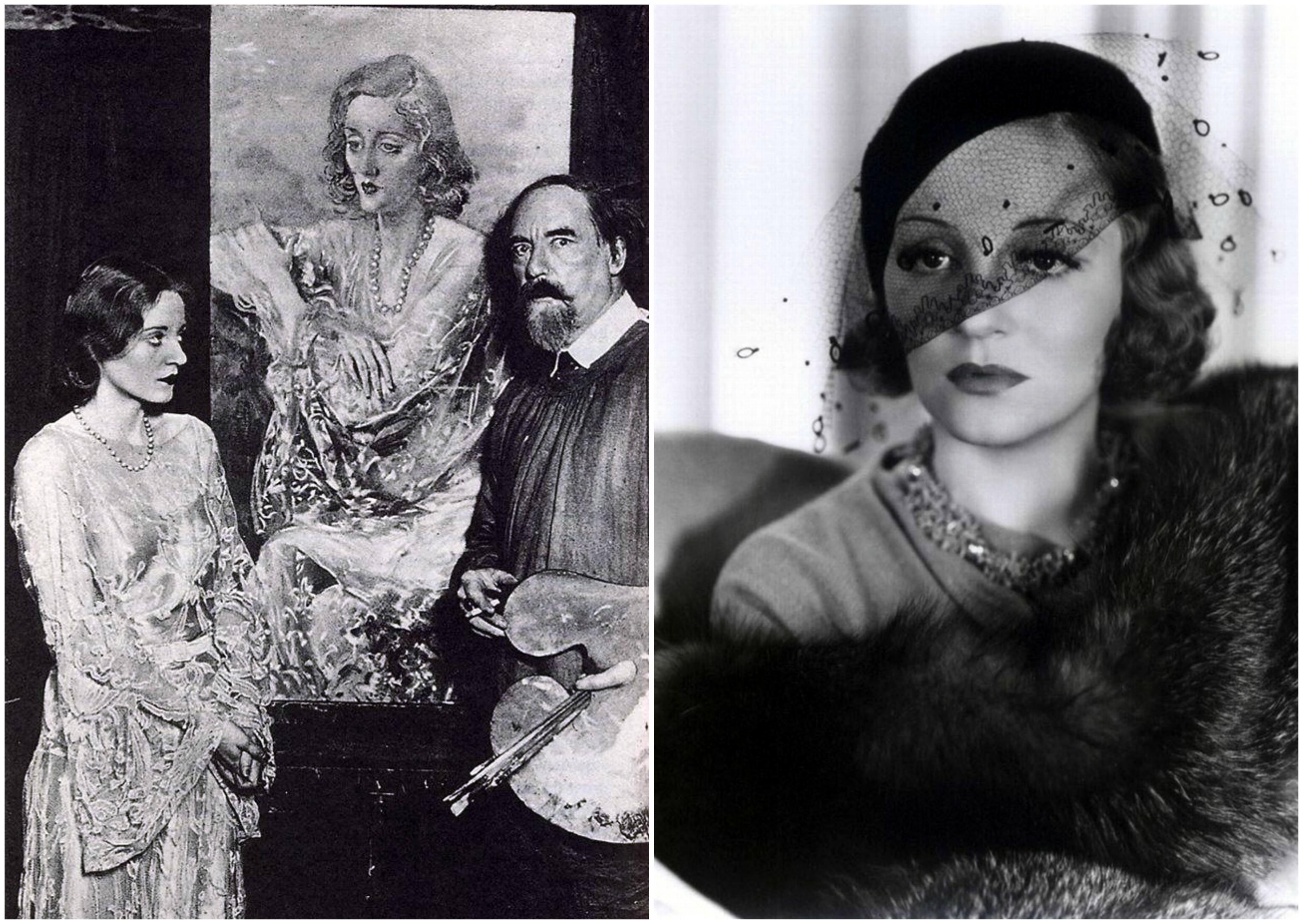 Po lewej Tallulah i Augustus John, autor jej sławnego portretu. Po prawej Tallulah w latach 30. (fot. Wikimedia.org / Domena publiczna / Insomnia Cured Here / Flickr.com / CC BY-SA 2.0)