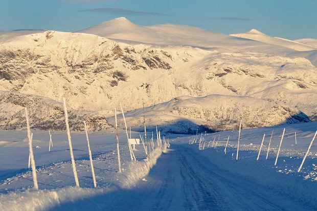 Trasa Valdresflye zimą