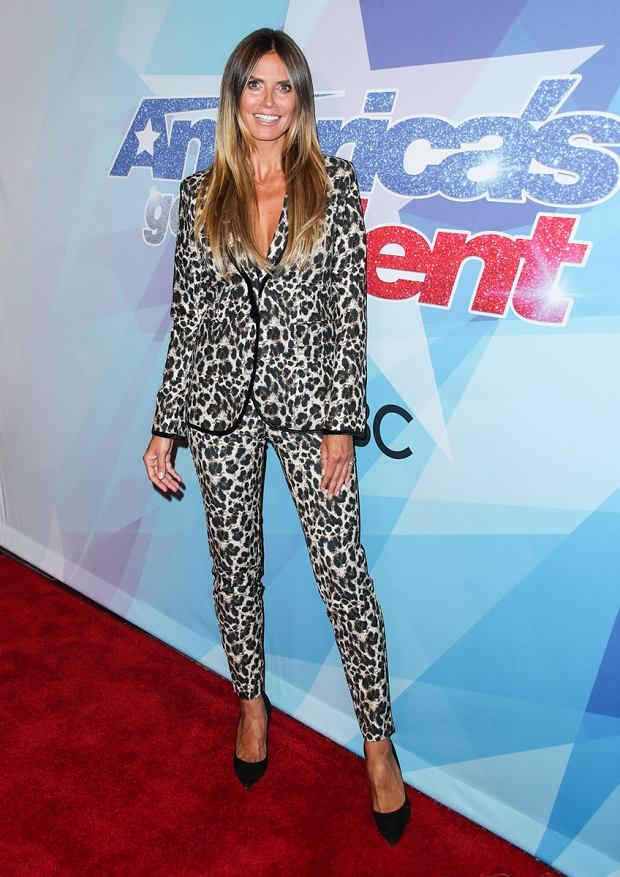 Celebrities arrive on the Red carpet at Americas Got Talent Season 12 Live Show on August 15, 2017 at Dolby Theatre in Hollywood, CA, United States  Pictured: Heidi Klum