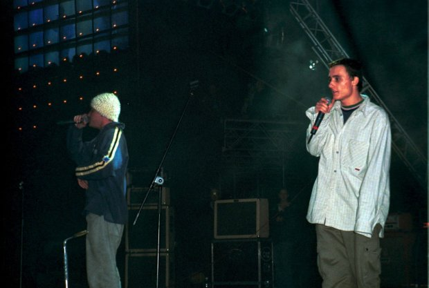 T10.1997 Katowice, Spodek. n/z Kaliber 44 ( Joka i Magik) fot.Michal Kolyga/REPORTER