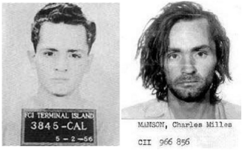 Charles Manson w 1956 i 1971 r. (fot. Wikimedia.org / Domena publiczna)