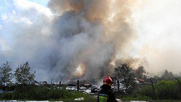 Gigantyczny pożar w Trzebini. Policja ustala, kto jest właścicielem wysypiska