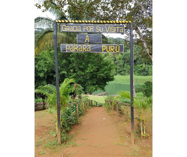 Wyjście z wioski i podziękowania za odwiedziny w wiosce Indian Embera Drua