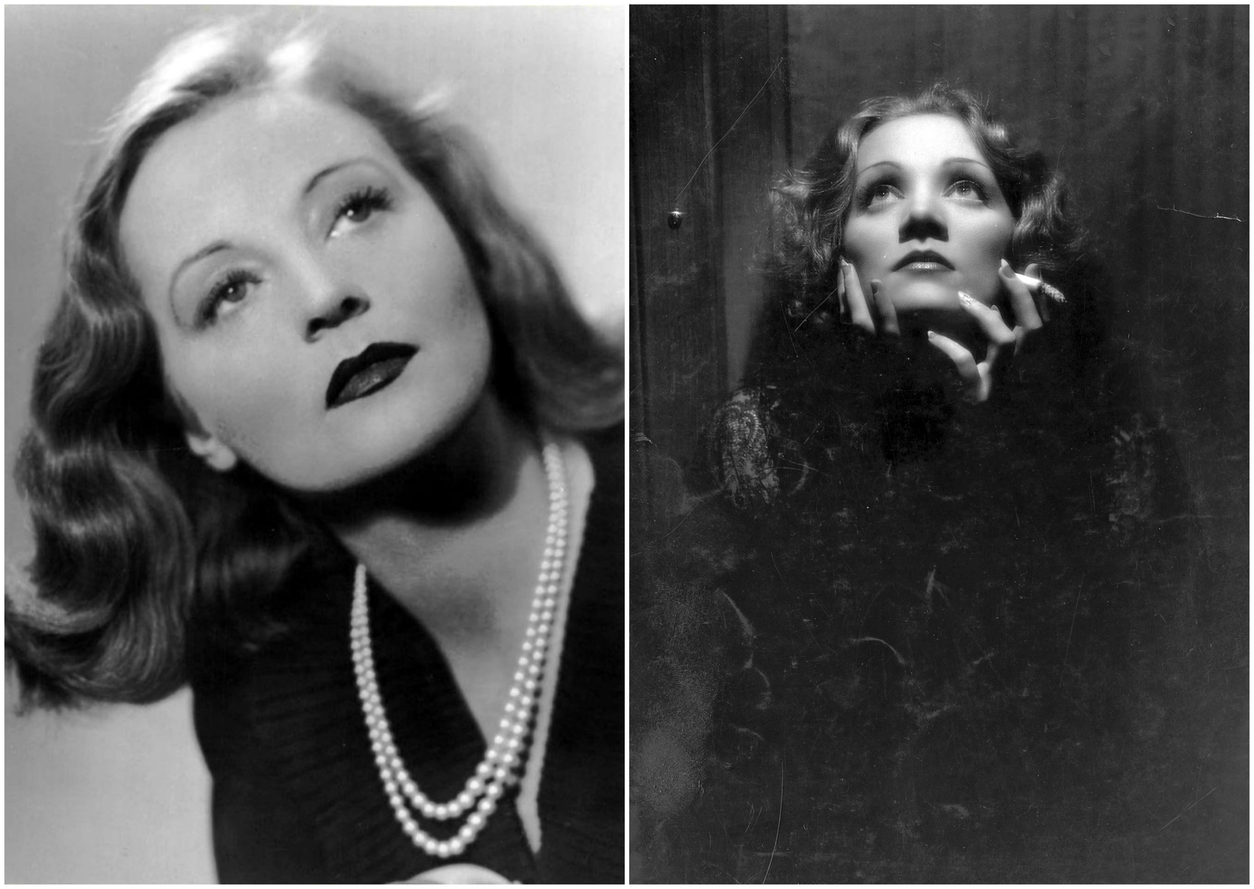 Po lewej Tallulah Bankhead w 1941 r. Po prawej Marlena Dietrich na planie filmu 'Szanghaj Ekspres' z 1932 r. (fot. Wikimedia.org / Domena publiczna)
