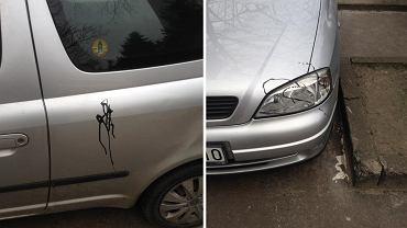 """Ursynów: za złe parkowanie pomazali samochód farbą. """"Co będzie później? Przecięte opony?"""""""