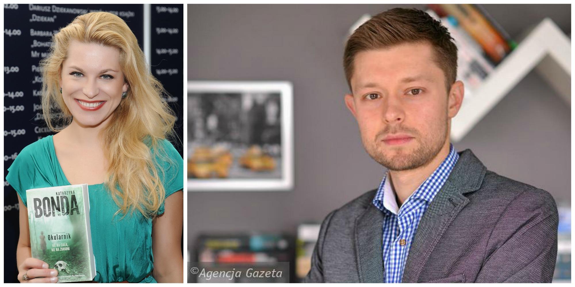 Katarzyna Bonda i Remigiusz Mróz to dziś jedni z najbardziej poczytnych polskich pisarzy (fot. Cezary Piwowarski / Wikimedia.org / CC-BY-3.0 / Jakub Malik / Agencja Gazeta)