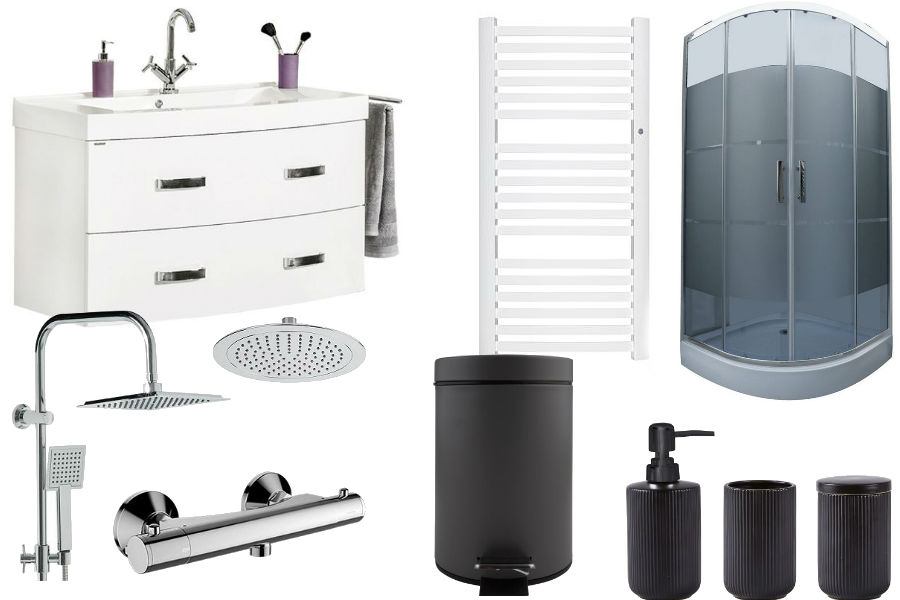 dodatki, łazienka, wnętrza, aranżacja łazienki, blok