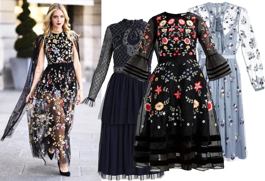 Sukienka z prześwitami