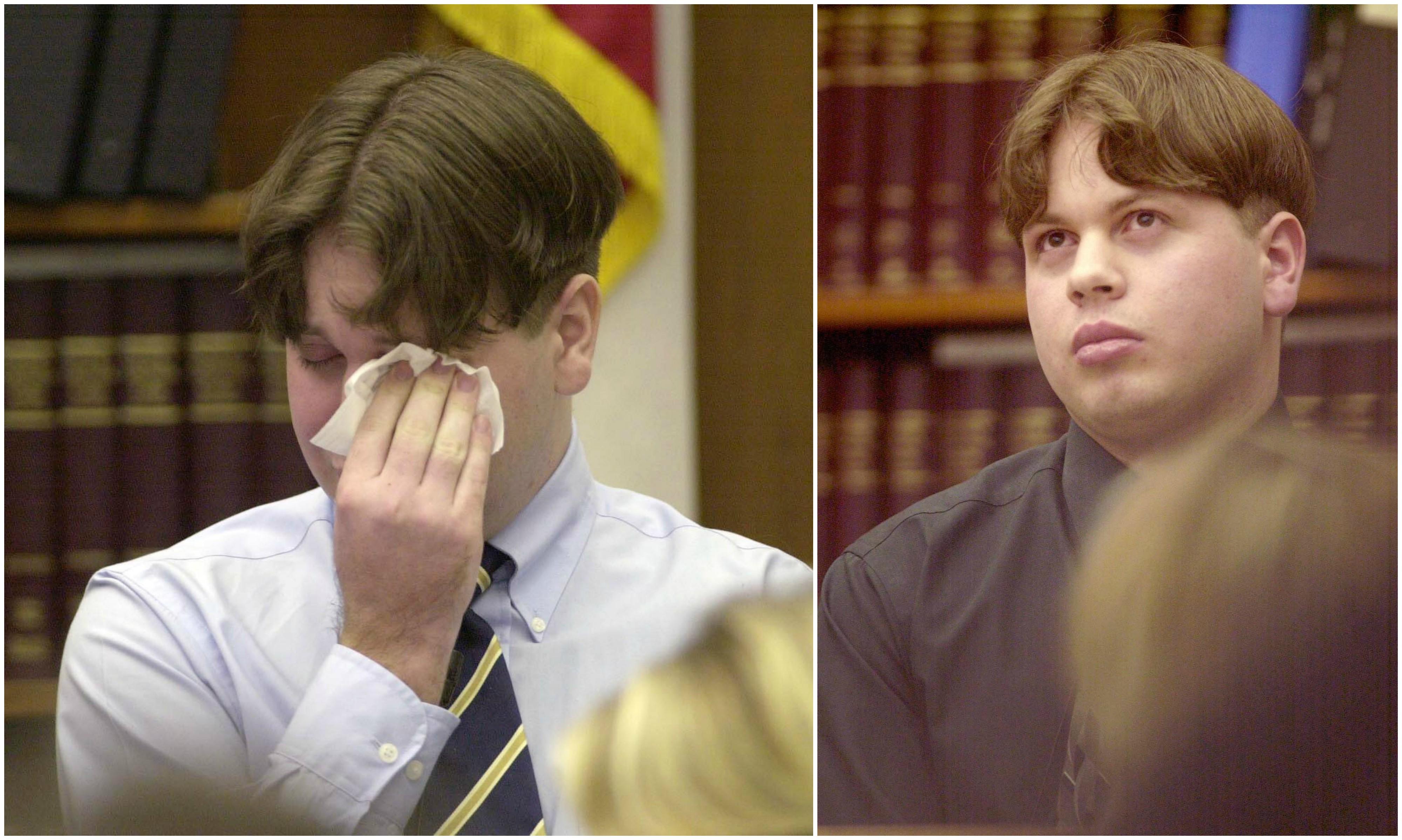 Niesłusznie oskarżony Michael Crowe podczas procesu mordercy swojej siostry, kwiecień 2004 r. (fot. Eastnews)