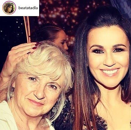Beata Tadla z mamą