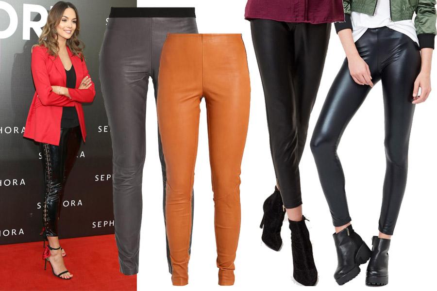 Kolaż, skórzane spodnie/Materiały partnera/fot. WBF