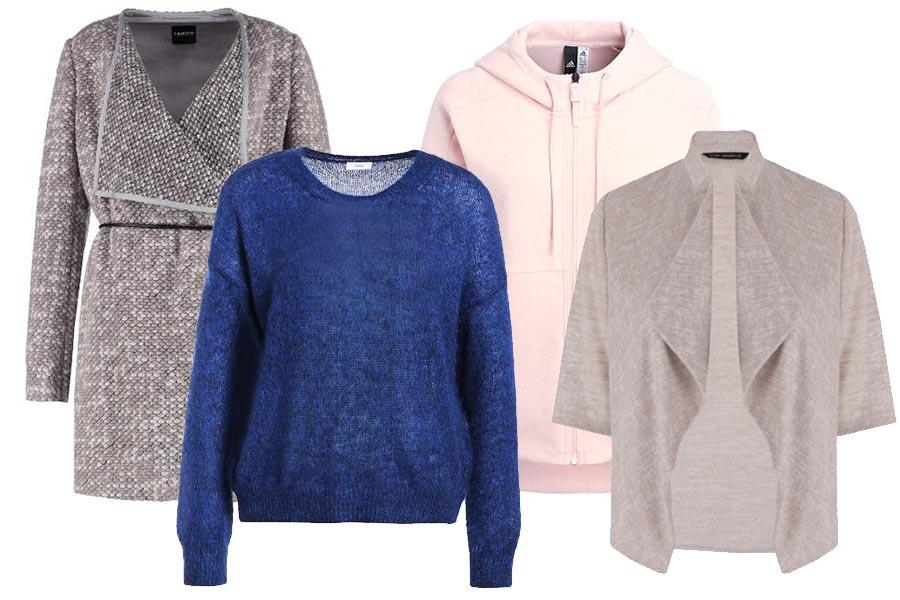 Krok trzeci: sweter, kamizelka, bluza