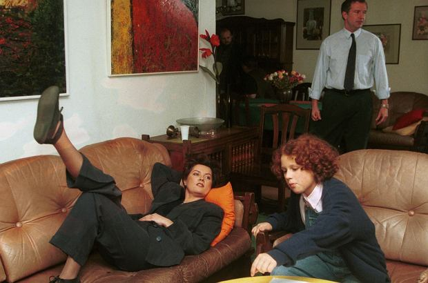 PHOTO PIOTR LISZKIEWICZ/SE/EAST NEWS PLAN FILMU KLAN AGNIESZKA KOTULANKA TOMASZ STOCKINGER I KAJA PASCHALSKA  AKTORZY   17/11/1997