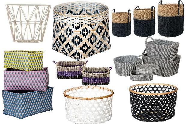Kosze z bambusa, trawy morskiej, metalu i hiacyntu - praktyczne dodatki do każdego mieszkania