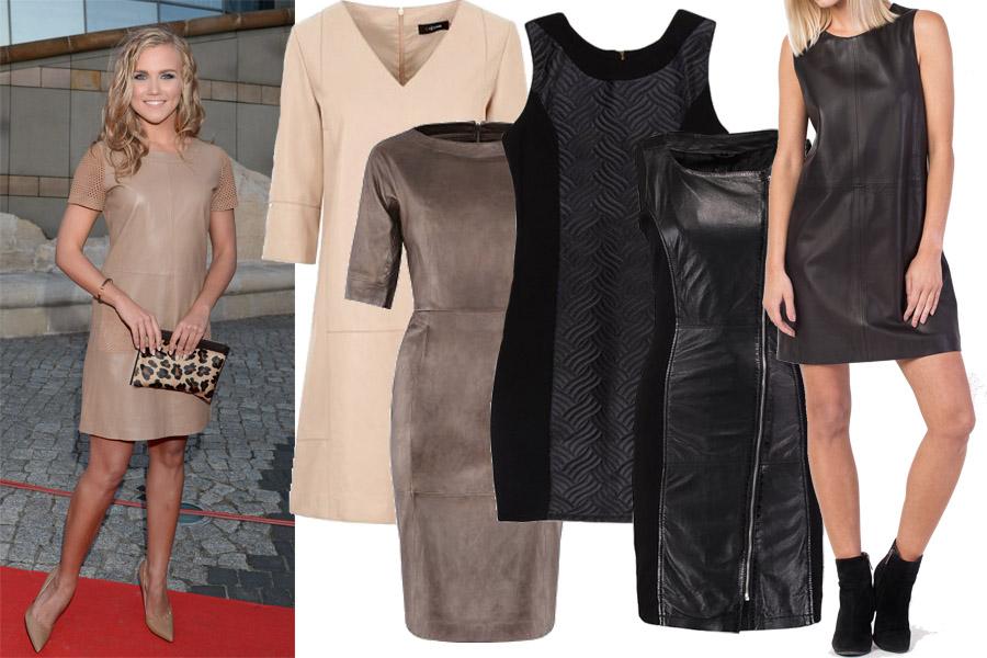 Kolaż, sukienki skórzane/Materiały partnera/fot. WBF