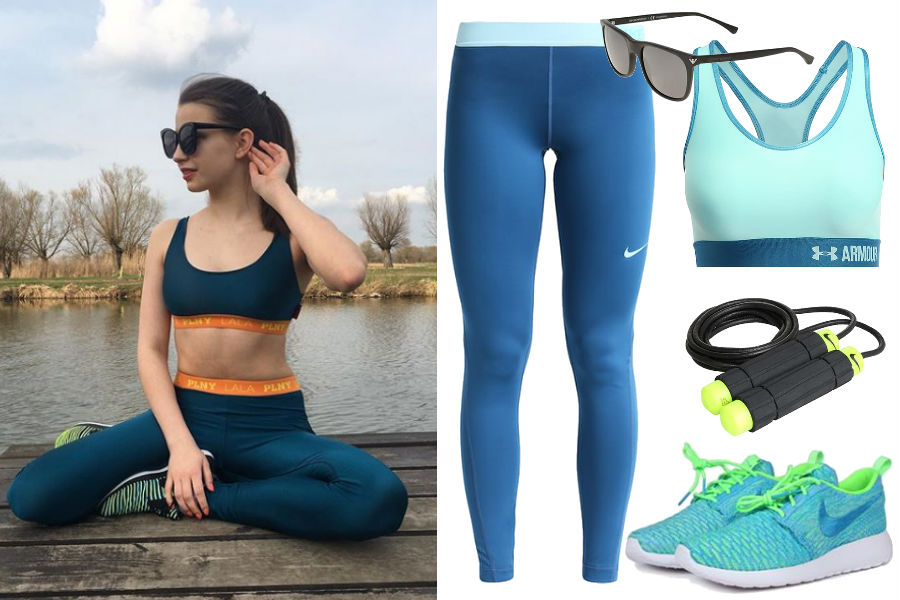 Kolaż / Sportowe stylizacje Julii Wieniawy / Źródło: www.instagram.com/juliawieniawa