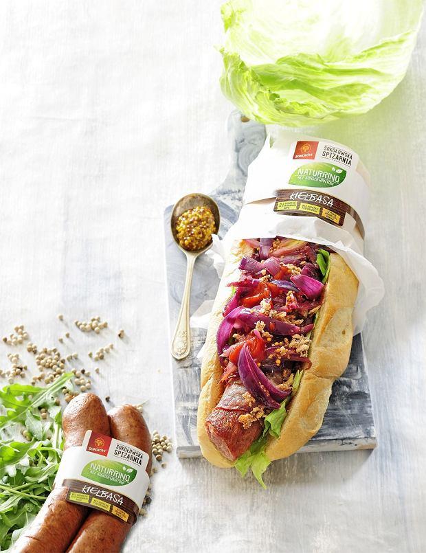 kanapka z kiełbasą