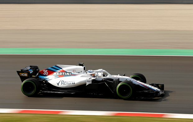 Williams driver Sergey Sirotkin of Russia steers his car during a Formula One pre-season testing session at the Catalunya racetrack in Montmelo, outside Barcelona, Spain, Tuesday, Feb. 27, 2018. (AP Photo/Francisco Seco)