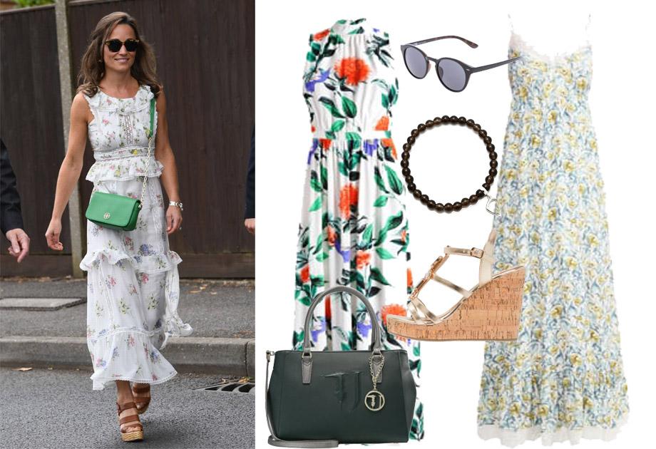 Pippa Middleton w sukience w kwiaty