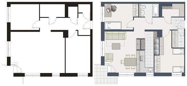 Mieszkanie dla 5-osobowej rodziny, wersja 2
