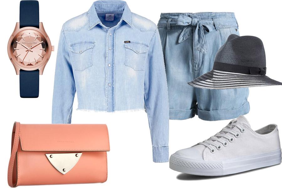 Stylizacja z koszulą jeansową / Kolaż / Materiały partnera