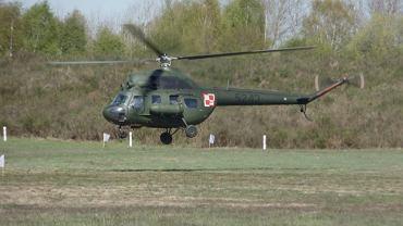 Śmigłowiec wojskowy zahaczył o linie wysokiego napięcia pod Gdańskiem