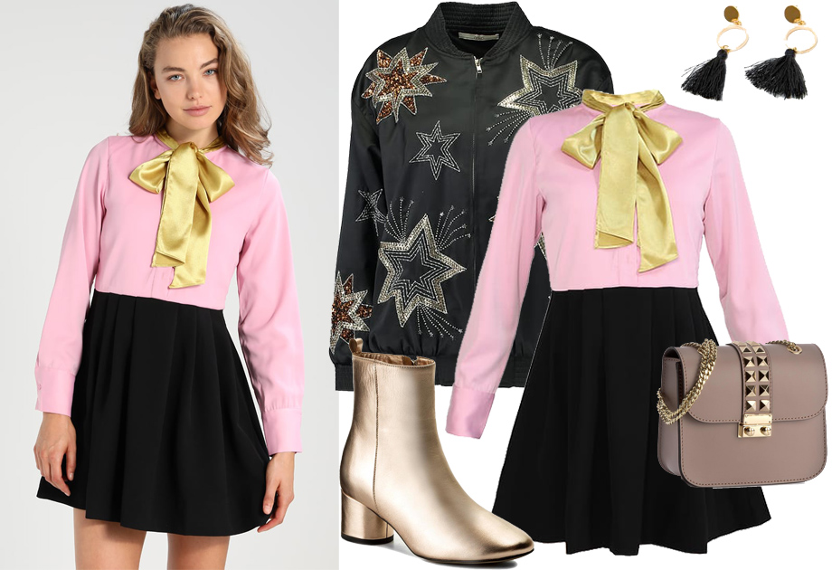Sukienka z kokardą - stylizacja
