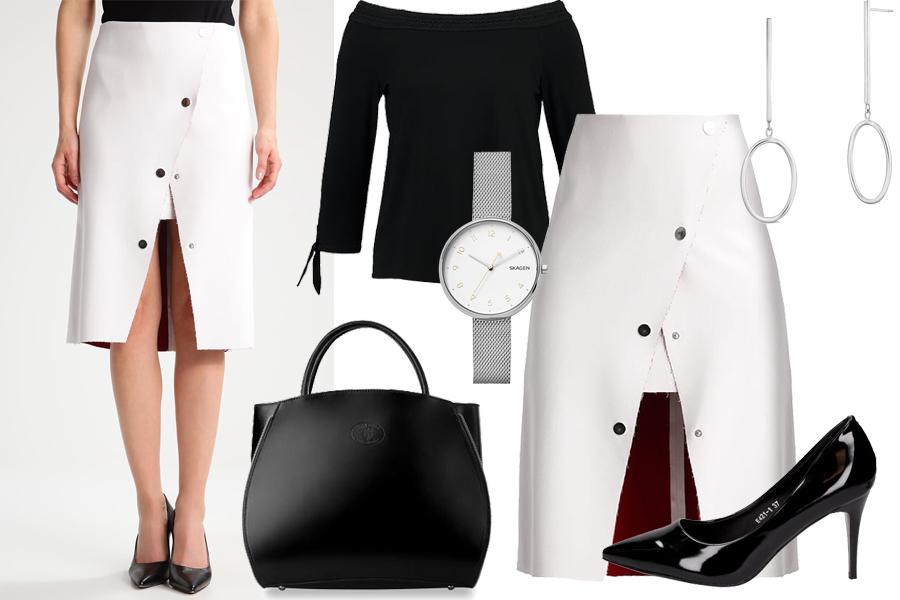 Stylizacja spódnica midi / Kolaż / Materiały partnera