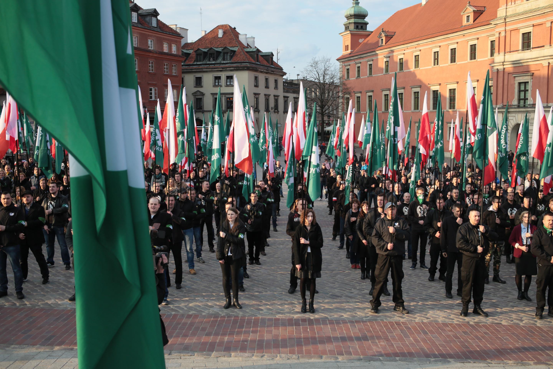 29.04.2017 WARSZAWA . Marsz ONR .  Fot. Agata Grzybowska / Agencja Gazeta