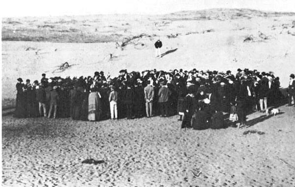 Założenie Tel Awiwu w 1909 (fot. Avraham Soskin / wikimedia.org / domena publiczna)