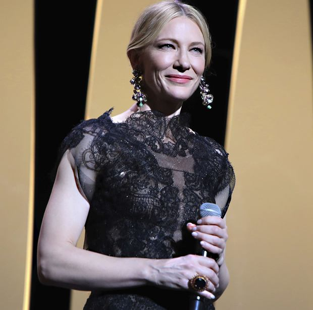 Jury president Cate Blanchett speaks to the audience at the opening ceremony of the 71st international film festival, Cannes, southern France, Tuesday, May 8, 2018. (Photo by Vianney Le Caer/Invision/AP)