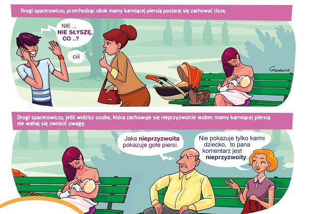 Karmienie piersią w parku