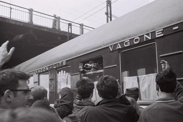 Pożegnanie Jerzego Neftalina, 19 maja 1969, Dworzec Gdański w Warszawie