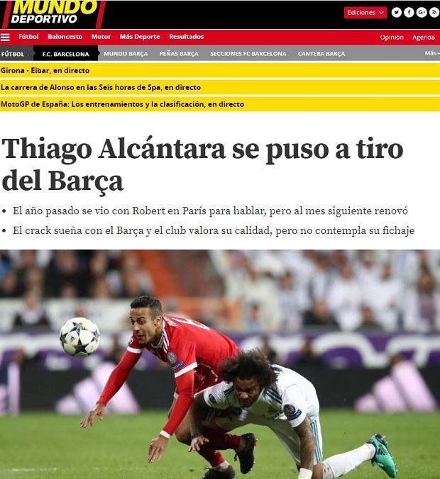 Thiago Alcantara wróci do Barcelony?