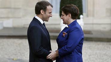 """Wspólna konferencja Macrona i Szydło. Powracał jeden temat. """"Ten element Francję niepokoi"""""""