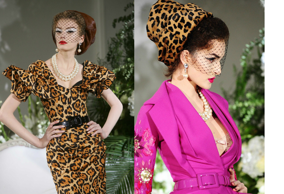 John Galliano - Dior leopard dress